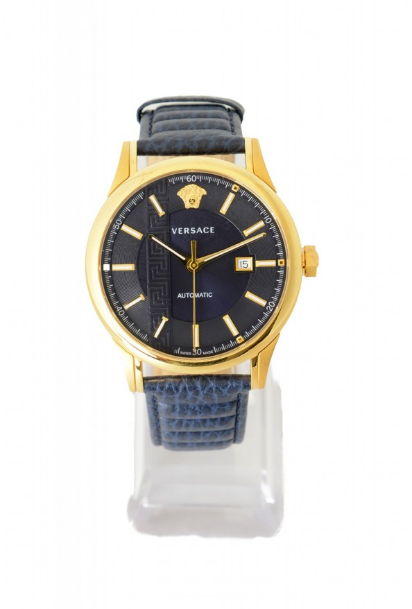 Versace Men's V18020017 AIAKOS Automatic Swiss Watch with Leather Calfskin Strap: Picture 2