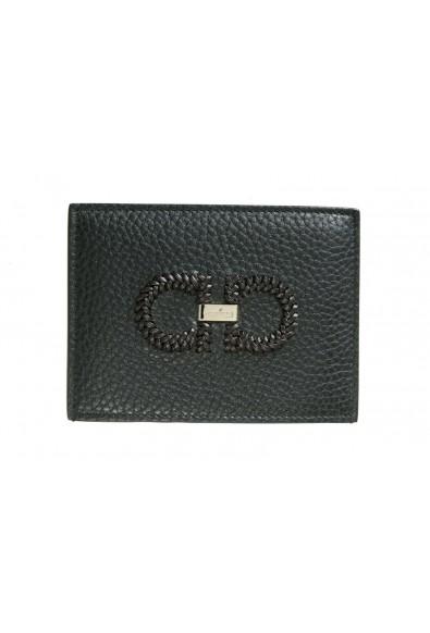 Salvatore Ferragamo Unisex 100% Leather Black Credit Card Case