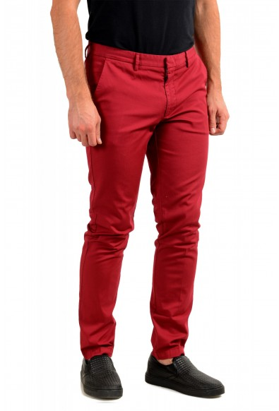 """Hugo Boss Men's """"Kaito1"""" Cherry Red Flat Front Casual Pants: Picture 2"""