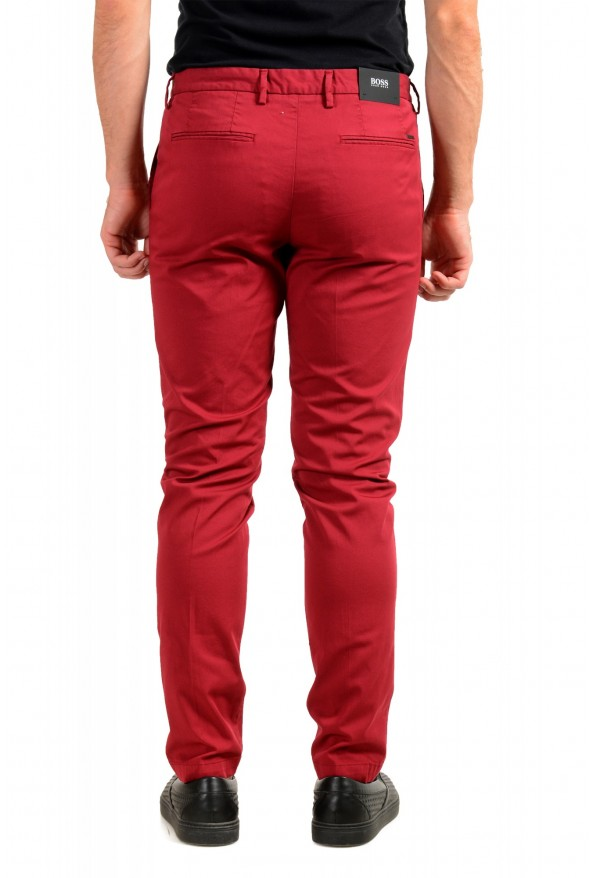 """Hugo Boss Men's """"Kaito1"""" Cherry Red Flat Front Casual Pants: Picture 3"""