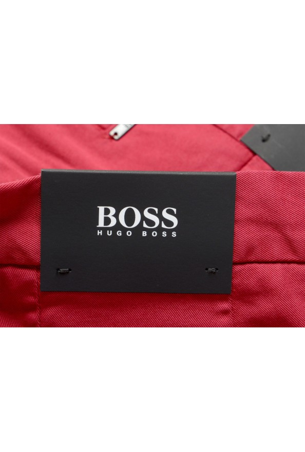 """Hugo Boss Men's """"Kaito1"""" Cherry Red Flat Front Casual Pants: Picture 4"""