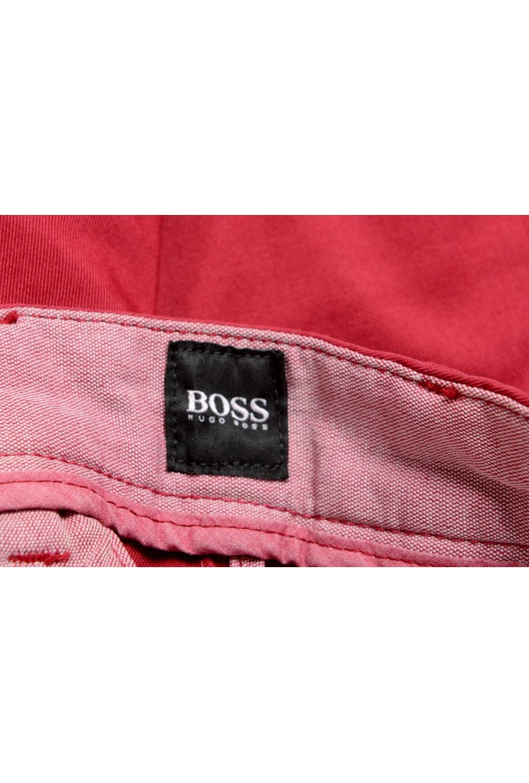 """Hugo Boss Men's """"Kaito1"""" Cherry Red Flat Front Casual Pants: Picture 5"""