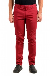 """Hugo Boss Men's """"Kaito1"""" Cherry Red Flat Front Casual Pants"""