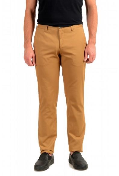 "Hugo Boss Men's ""Stanino17-W"" Brown Flat Front Casual Pants"