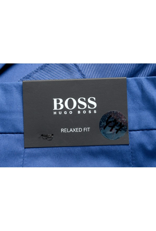 """Hugo Boss Men's """"Parik-2P-D"""" Royal Blue Pleated Front Casual Pants: Picture 4"""