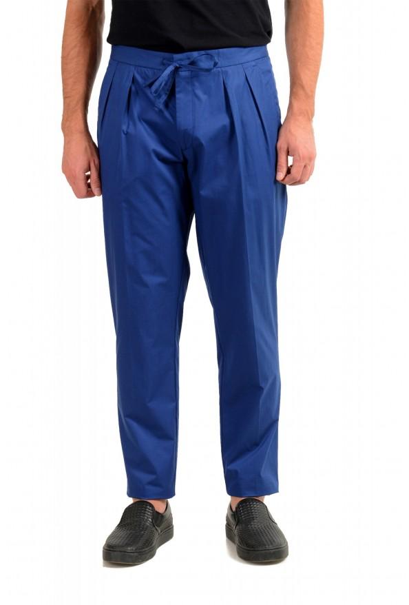 "Hugo Boss Men's ""Parik-2P-D"" Royal Blue Pleated Front Casual Pants"