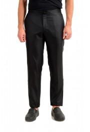 "Hugo Boss Men's ""Henry3/Glow"" Black 100% Silk Tuxedo Dress Pants"
