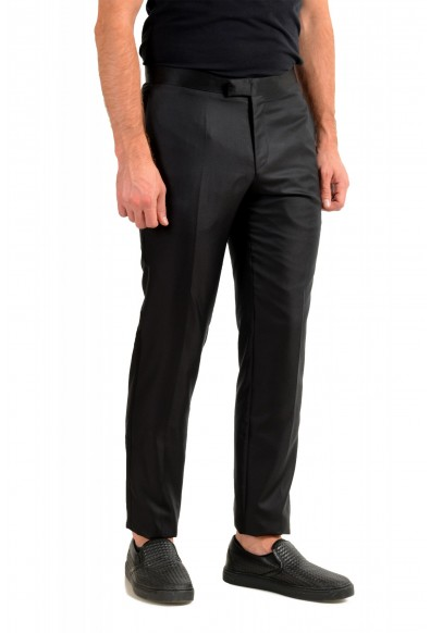 "Hugo Boss Men's ""Henry3/Glow"" Black 100% Silk Tuxedo Dress Pants: Picture 2"