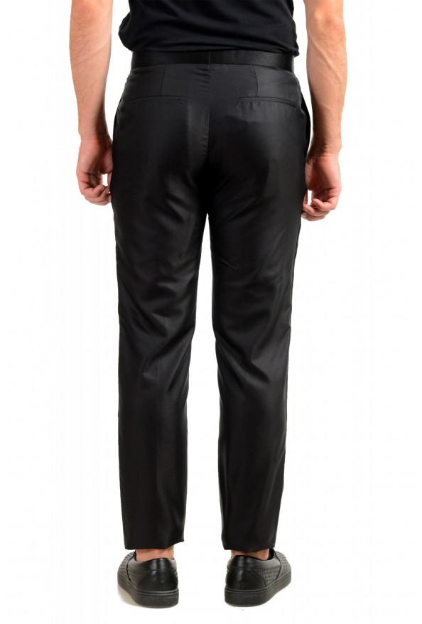 "Hugo Boss Men's ""Henry3/Glow"" Black 100% Silk Tuxedo Dress Pants: Picture 3"
