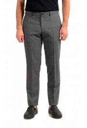 """Hugo Boss Men's """"Garo"""" Slim Fit 100% Wool Gray Pants"""