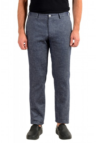 Hugo Boss Men's Stanino17-W Slim Fit Linen Flat Front Casual Pants