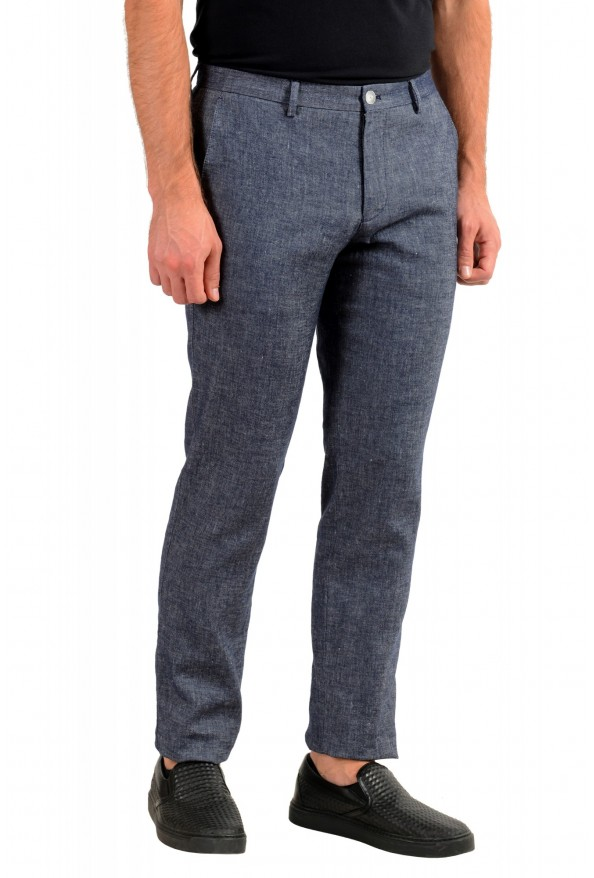 Hugo Boss Men's Stanino17-W Slim Fit Linen Flat Front Casual Pants : Picture 2