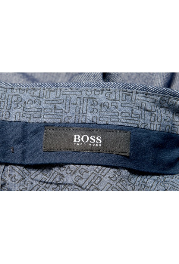 Hugo Boss Men's Stanino17-W Slim Fit Linen Flat Front Casual Pants : Picture 5