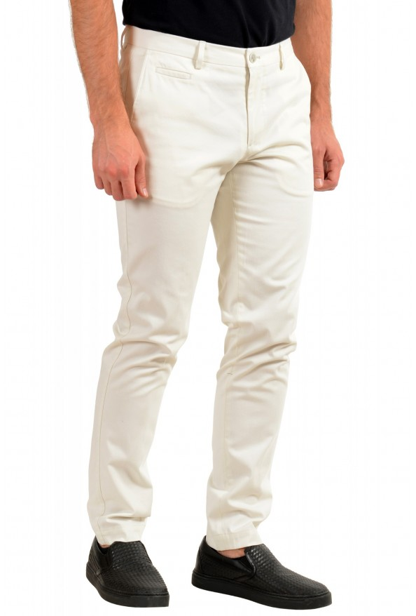 """Hugo Boss Men's """"Broad1-W"""" Ivory Flat Front Casual Pants: Picture 2"""