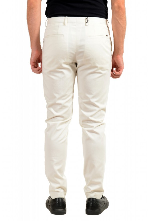 """Hugo Boss Men's """"Broad1-W"""" Ivory Flat Front Casual Pants: Picture 3"""
