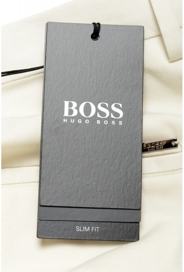 """Hugo Boss Men's """"Broad1-W"""" Ivory Flat Front Casual Pants: Picture 4"""