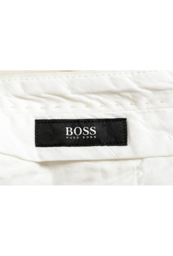 """Hugo Boss Men's """"Broad1-W"""" Ivory Flat Front Casual Pants: Picture 5"""