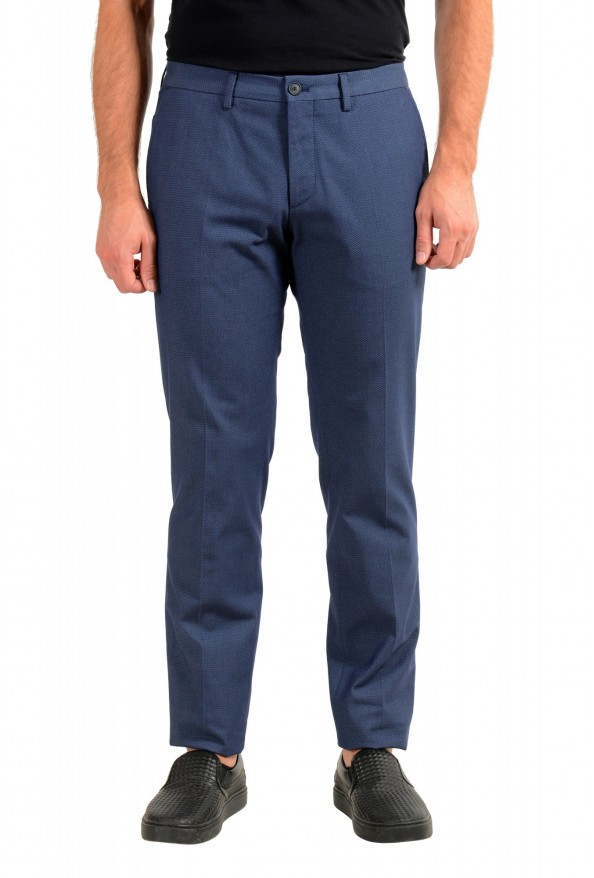"Hugo Boss Men's ""Wylson-W"" Blue Geometric Print Casual Pants"