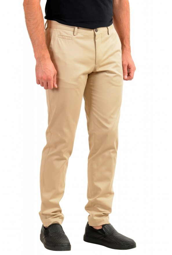 "Hugo Boss Men's ""Broad-W"" Beige Flat Front Casual Pants: Picture 2"