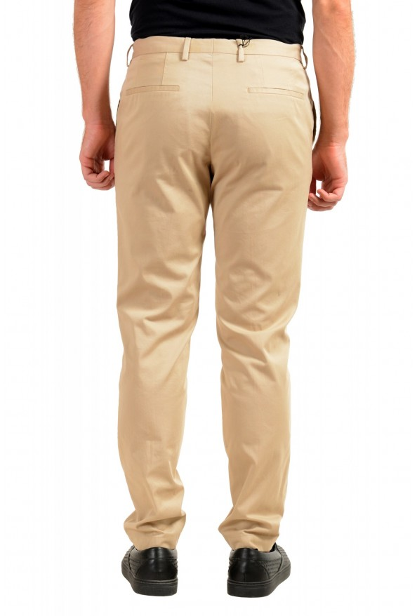 "Hugo Boss Men's ""Broad-W"" Beige Flat Front Casual Pants: Picture 3"