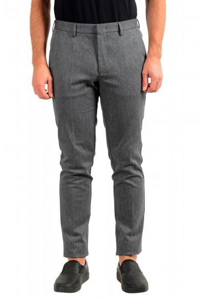 "Hugo Boss Men's ""Kaito1"" Gray Flat Front Casual Pants"