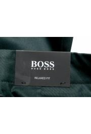 "Hugo Boss Men's ""Kirio-Workwear"" Dark Green Casual Pants: Picture 4"