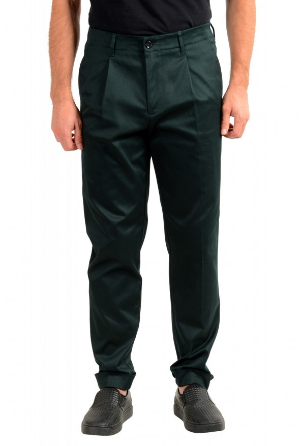 "Hugo Boss Men's ""Kirio-Workwear"" Dark Green Casual Pants"