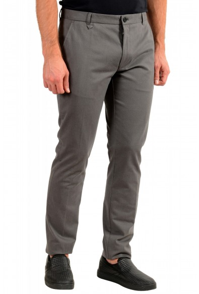 "Hugo Boss Men's ""Heldor183"" Gray Geometric Print Flat Front Casual Pants: Picture 2"