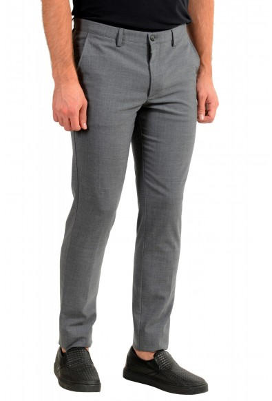"""Hugo Boss Men's """"Kaito3-Stitch1"""" Slim Fit Gray Wool Flat Front Casual Pants: Picture 2"""