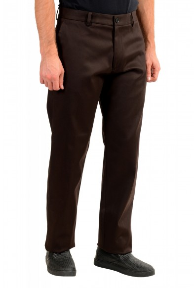 """Hugo Boss Men's """"Parko-SPW1"""" Relaxed Fit Brown Flat Front Casual Pants: Picture 2"""