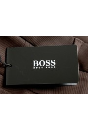 """Hugo Boss Men's """"Parko-SPW1"""" Relaxed Fit Brown Flat Front Casual Pants: Picture 5"""