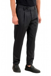 """Hugo Boss Men's """"Porto"""" Gray Wool Pleated Casual Pants: Picture 2"""