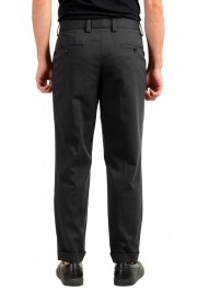 """Hugo Boss Men's """"Porto"""" Gray Wool Pleated Casual Pants: Picture 3"""