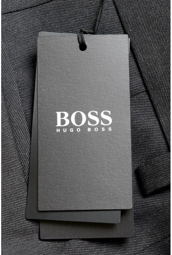 """Hugo Boss Men's """"Porto"""" Gray Wool Pleated Casual Pants: Picture 4"""