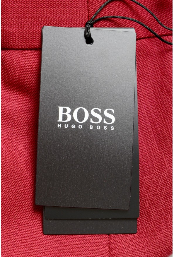 """Hugo Boss Men's """"Porto"""" Red Wool Pleated Casual Pants: Picture 4"""