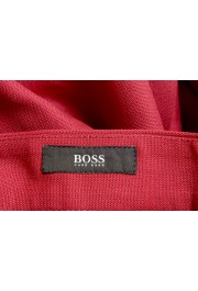 """Hugo Boss Men's """"Porto"""" Red Wool Pleated Casual Pants: Picture 5"""