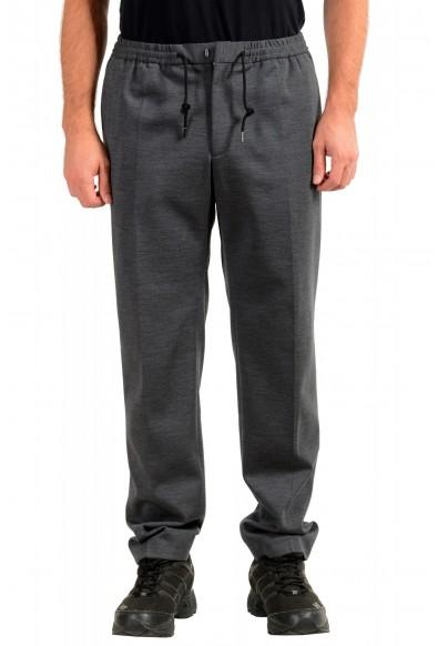 """Hugo Boss Men's """"Banks2-J"""" Gray Wool Casual Pants"""