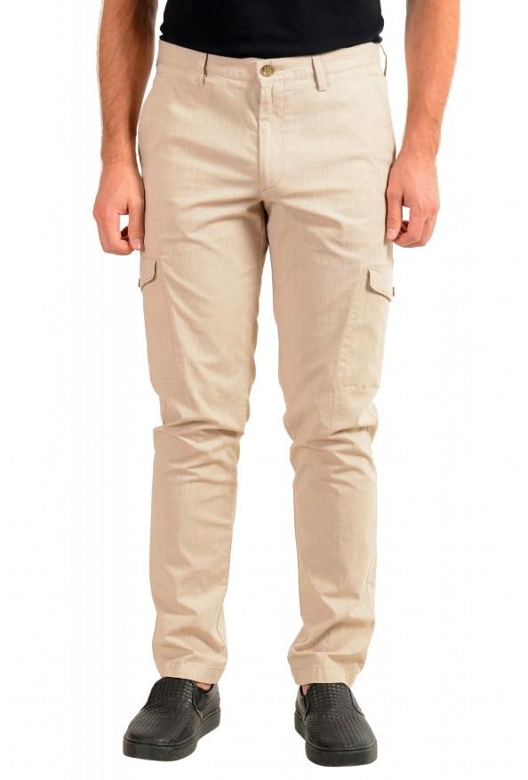 "Hugo Boss Men's ""Kailo-W"" Beige Cargo Casual Pants"