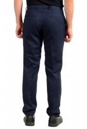 "Hugo Boss Men's ""Genius5"" Slim Fit 100% Wool Blue Plaid Dress Pants: Picture 3"