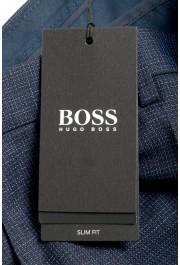 "Hugo Boss Men's ""Genius5"" Slim Fit 100% Wool Blue Plaid Dress Pants: Picture 5"