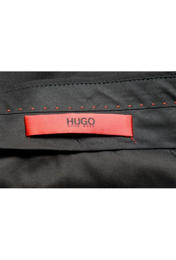 "Hugo Boss Men's ""Fatal191F1"" Black 100% Wool Dress Pants: Picture 4"