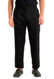 "Hugo Boss Men's ""Fatal191F1"" Black 100% Wool Dress Pants"