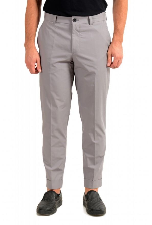 """Hugo Boss Men's """"Perin1"""" Gray Flat Front Casual Pants"""