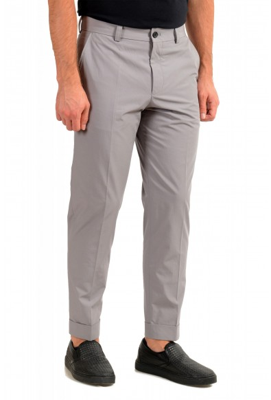 """Hugo Boss Men's """"Perin1"""" Gray Flat Front Casual Pants: Picture 2"""