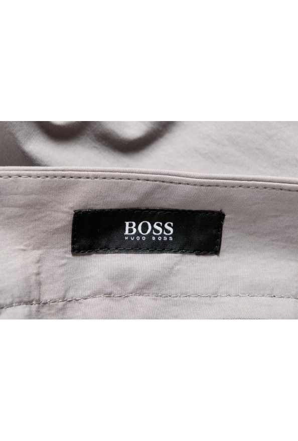 """Hugo Boss Men's """"Perin1"""" Gray Flat Front Casual Pants: Picture 5"""