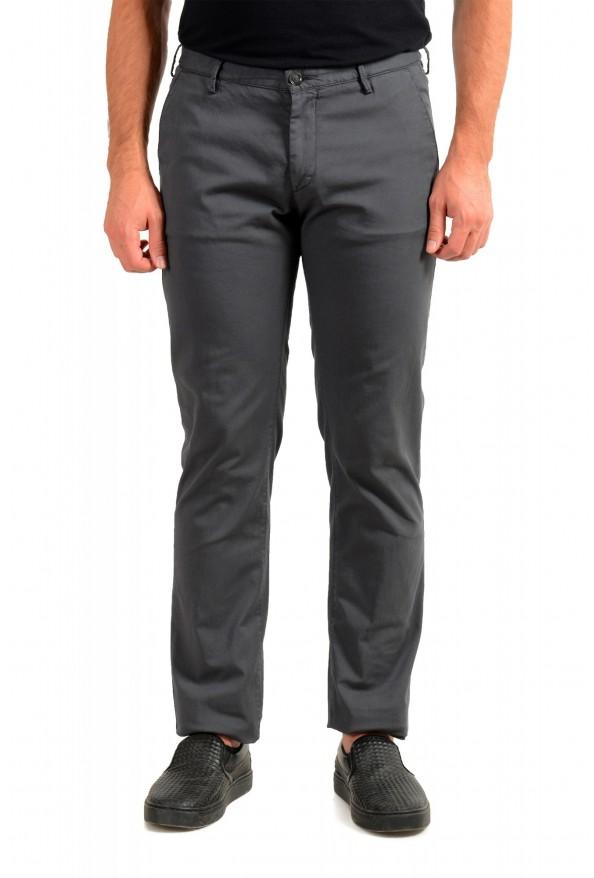 """Hugo Boss Men's """"Rise3-D"""" Slim Fit Gray Casual Pants"""