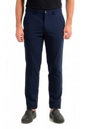 "Hugo Boss Men's ""Kaito3-Stitch1"" Slim Fit Dark Blue Wool Casual Pants"