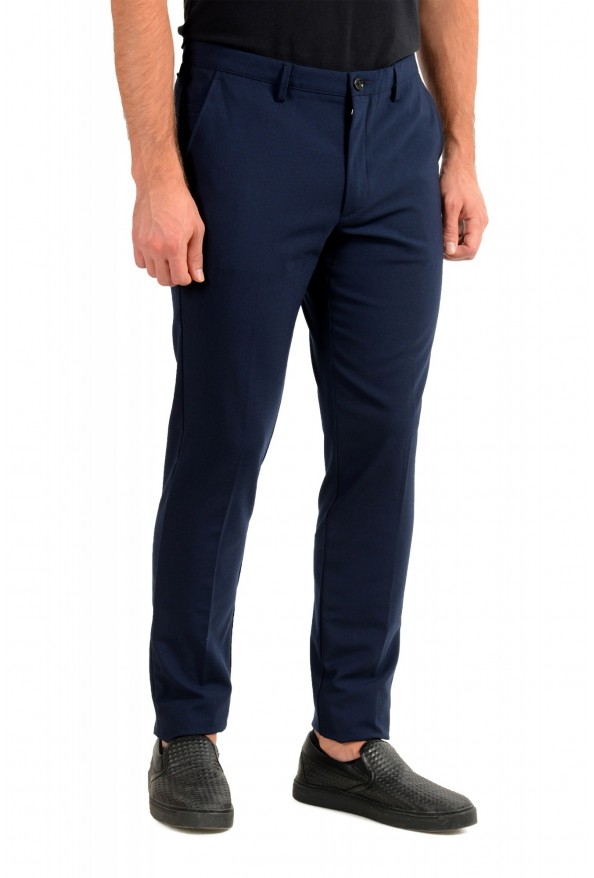 """Hugo Boss Men's """"Kaito3-Stitch1"""" Slim Fit Dark Blue Wool Casual Pants: Picture 2"""