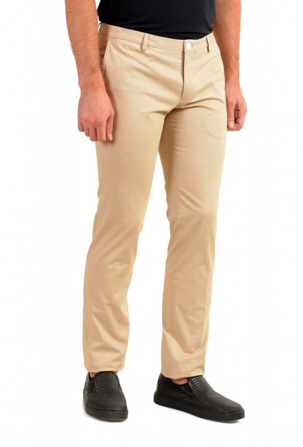 "Hugo Boss Men's ""Gerald182W"" Slim Fit Beige Flat Front Casual Pants: Picture 2"