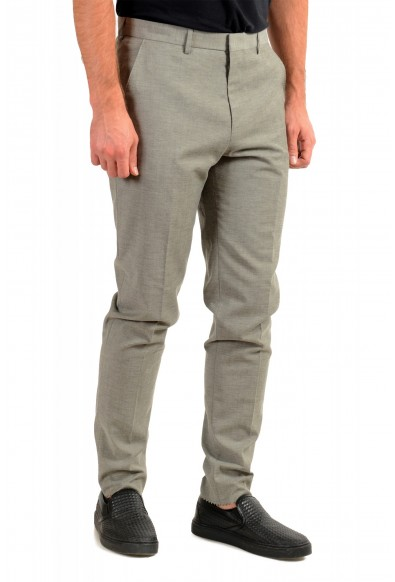 """Hugo Boss Men's """"Pitko2"""" Gray Wool Flat Front Casual Pants: Picture 2"""